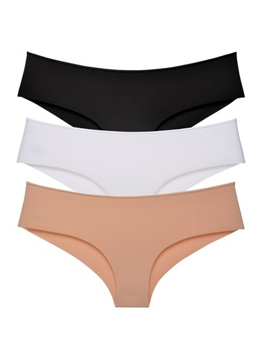 Sensu Kadın Panty Lazer Kesim Külot 3 Lü Paket Set Kts2013 Renkli